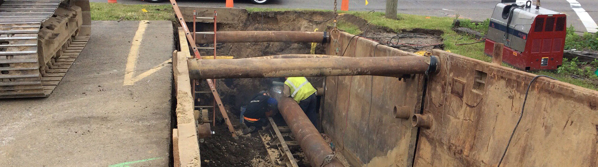 westmoreland road water line installation construction